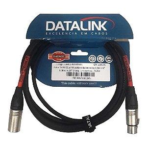 Cabo Datalink Garage Microfone Balanceado 030mm xlr 3m GB002