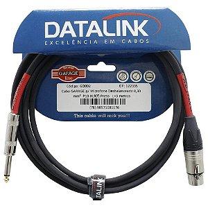 Cabo Datalink Garage Microfone 0,30 mm p10 xlr 3mt GD002