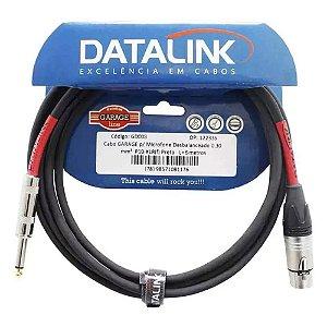 Cabo Datalink Garage Microfone 0,30 mm p10 xlr 5mt GD003