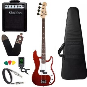 Kit Baixo Precision PHX PBS Vermelho 4 Cordas Amplificador
