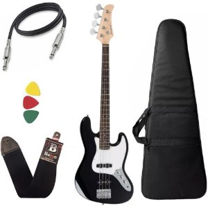 Kit Baixo Strinberg Jbs40 4 Cordas Jazz Bass Preto Capa
