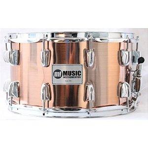 Caixa Bateria M! Music 8x14 Pvc 580 Cobre profissional