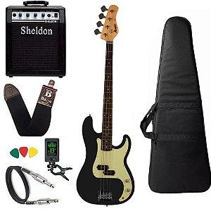 Kit Baixo Tagima memphis Mb40 Preto Black Satin Amplificador