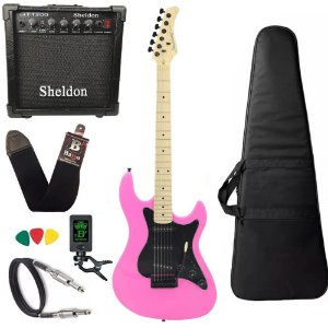 Kit Guitarra Strinberg Sts100 Rosa Pink PK Amplificador