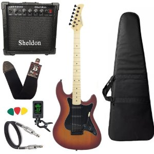 Kit Guitarra Strinberg Sts100 Cherry Sunburst Amplificador