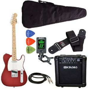 Kit Guitarra Phx Telecaster Tl1 vermelho Meteoro Afinador