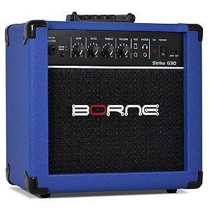 Amplificador Cubo Borne G30 azul C/ Distorção para guitarra