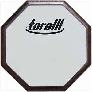 Pad Estudo Baterista Rudimento Torelli Ta555 N12 Face Dupla