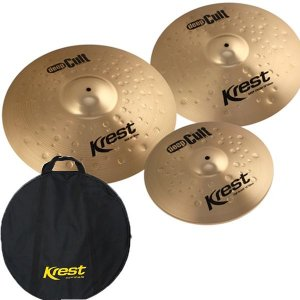 Kit Set Pratos Bateria Krest Deep Cult 14 18 20 DCSET1 e Bag
