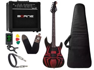 Kit Guitarra Marvel spider man aranha phx Gms1 cubo Borne