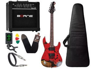 Kit Guitarra Marvel iron man homem ferro phx Cubo Borne