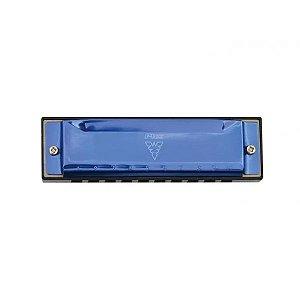 Gaita 10 Vozes harmonica azul Afinação Do C Phx Le1020