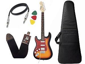Guitarra Phx Strato Power Canhoto Sth Sunburst Bag Correia Cabo