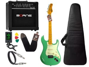 kit Guitarra Tagima TG 530 Woodstock Surf Green Cubo Borne