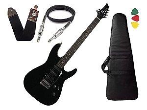 Guitarra Tagima Memphis Mg230 Mg 230 Preto Capa Cabo Alça