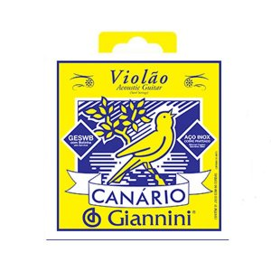 Encordoamento Corda Canario Giannini Violão Aço 011 Geswb