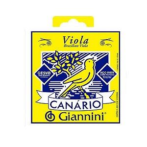 Encordoamento Cordas Canario Giannini Viola Aço Gesvb Média