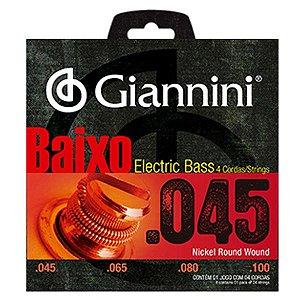 Encordoamento Giannini para Baixo 4 cordas 045 GEEBRS