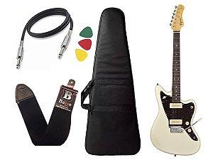 Guitarra  Tagima Tw61 Woodstock Branco Bag Correia