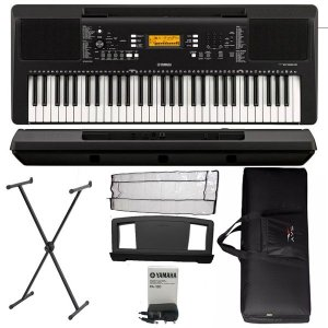 Teclado Yamaha PSRE363 5/8 USB 61 Teclas Suporte e Bag Luxo