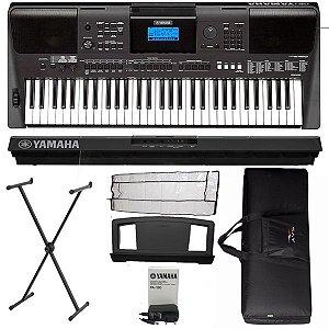 Teclado Yamaha PSRE453 5/8 USB 61 Teclas Suporte e Bag Luxo