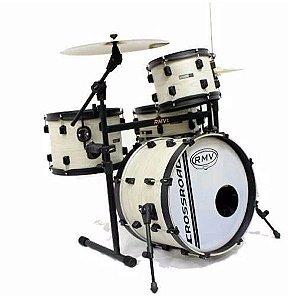 Bateria Rmv Crossroad Jazz Bianco Bumbo 18 Rack e Pedal