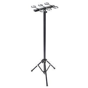 Pedestal Para 6 Microfones - Suporte Tipo Descanso 6 Mic