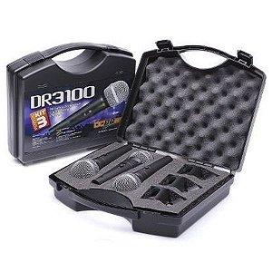 Kit 3 Microfones Dinâmico Profissional C/ Fio Donner Dr3100