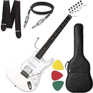 Guitarra Eagle STS 002 Stratocaster Branco e brinde