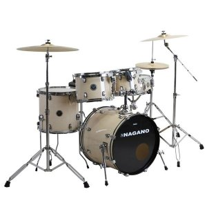 Bateria Nagano Garage Rock 22 Bumbo 22 Natural Clear