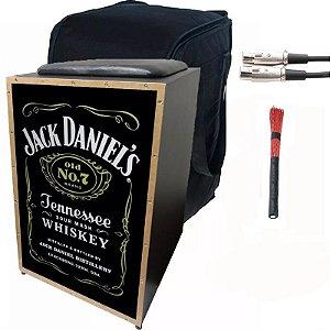 Cajon Eletrico Jaguar Jack Daniels Vassourinha Capa Cabo