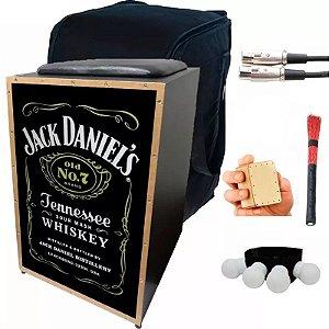 Kit Cajon Eletrico Jaguar Jack Daniels Capa Cabo Vassourinha