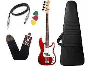 Baixo Infantil Criança Phx Precision Bass Jr 34 Vermelho Bag