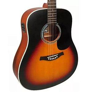 Violão Elétrico Tagima Aço Woodstock Tw25 Cor Sunburst