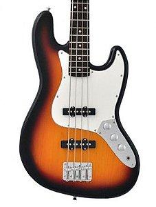 Baixo 4 Cordas Canhoto Phx Jb4 Sunburst Jazz Bass