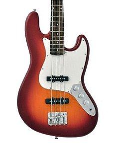 Baixo Phx 4 Cordas Jb4 Cherry Burst Jazz Bass