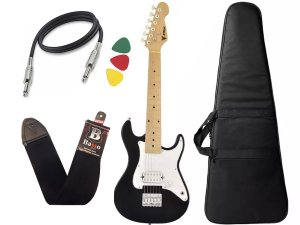 Guitarra Infantil Criança Eletrica Phx Ist1 Preto 3/4 Capa