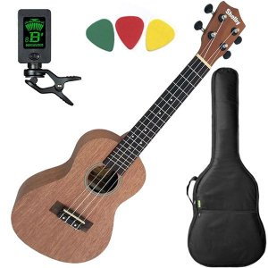 Ukulele Shelby Su23m Concerto Natural By Eagle Afinador Capa