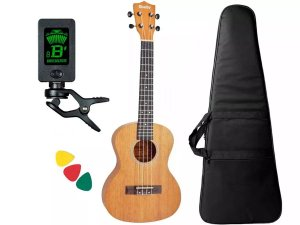 Kit Ukulele Tenor Shelby Eagle Su25m Natural Afinador Capa