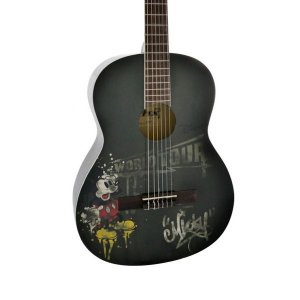 Violao Phx Nylon Disney Mickey Adulto Mwt1 Preto