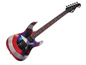 Guitarra Phx Marvel Capitão América Gmc1