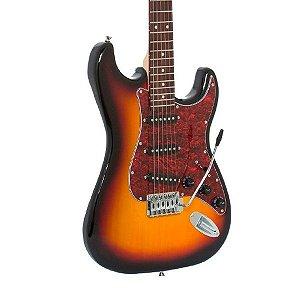 Guitarra Giannini 3 Singles G100 Sunburst E Vinho