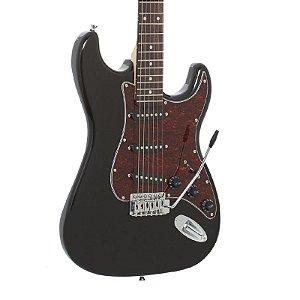 Guitarra Giannini Strato 3 Singles G100 Preto e Vinho