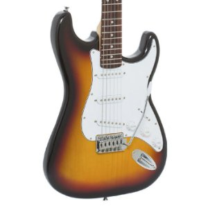 Guitarra Giannini Strato 3 Singles G100 Sunburst e Branca