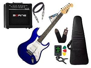 Kit Guitarra Tagima Memphis Mg32 Azul Borne Capa