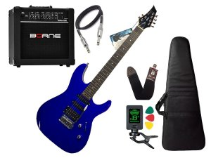 Kit Guitarra Memphis Tagima Mg230 Azul Borne G30