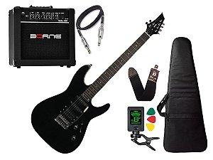 Kit Guitarra Memphis Tagima Mg230 Preto Borne G30