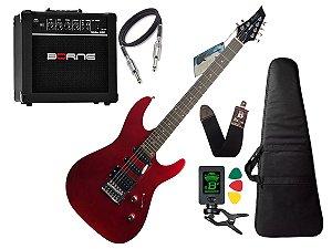 Kit Guitarra Memphis Tagima Mg230 Vermelho Borne G30