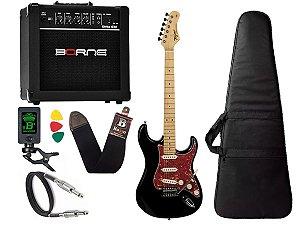 kit Guitarra Tagima TG 530 Woodstock Preto Cubo Borne G30