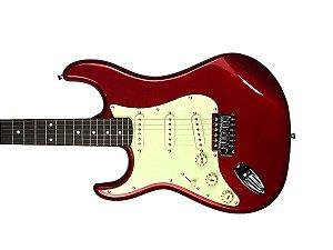 Guitarra Tagima Memphis Mg32 Canhoto Vermelho Metálico